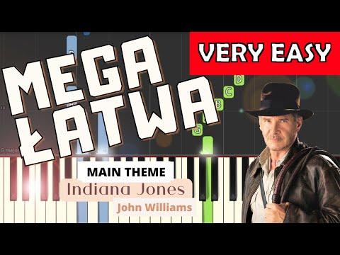 🎹 Indiana Jones (Motyw główny, J. Williams) - Piano Tutorial (MEGA ŁATWA wersja) (VERY EASY) 🎹