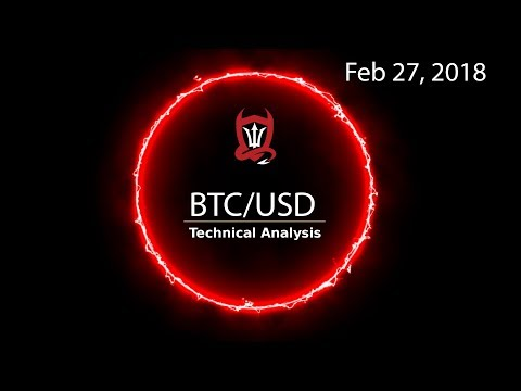 Bitcoin Technical Update (BTC/USD) This Is Your Job... [02/27/2018]