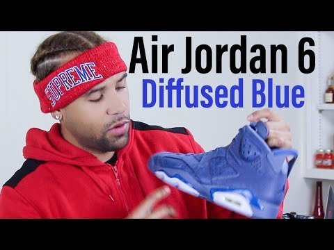 online store 8c1bb 26b96 FIRST LOOK  AIR JORDAN 6 RETRO DIFFUSED BLUE BY THE SUPREME PRINCE