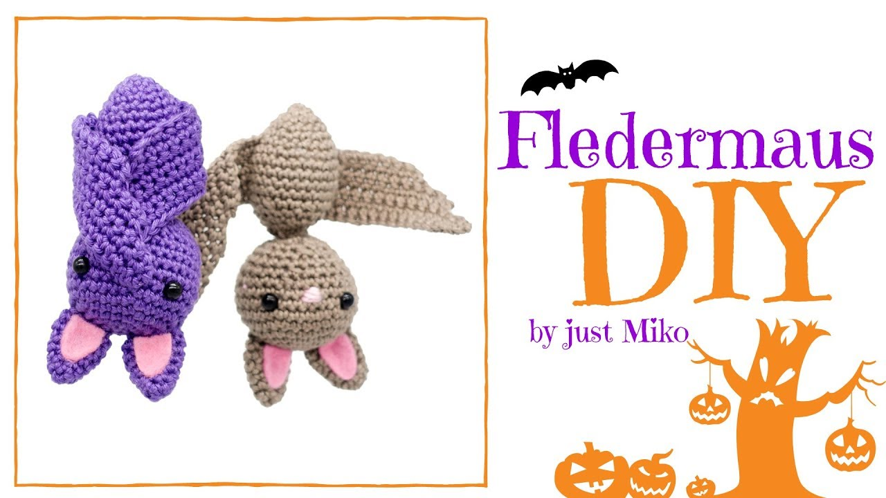 Fledermaus Häkeln Do It Yourself Amigurumi Halloween Youtube