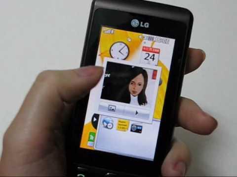 LG KP500 桌面widget