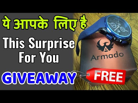 BEST BUDGET Watch In India - UNBOXING + GIVEAWAY, Cheapest Watch Under 500 - ARMADO Watch