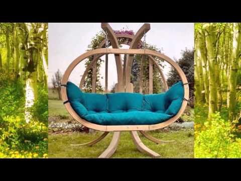 Смотреть онлайн Деревянные садовые качели - включите фантазию
