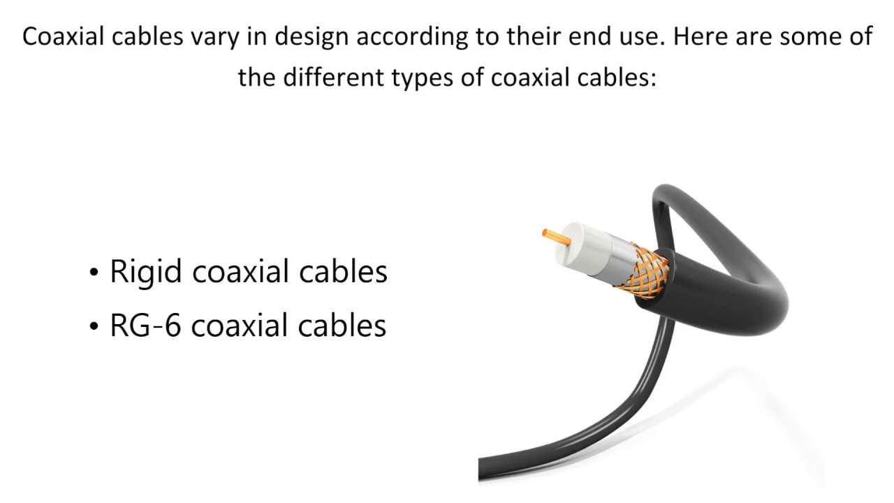 the different types of coaxial cables