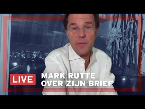Mark Rutte LIVE op Facebook over zijn brief aan Nederland.