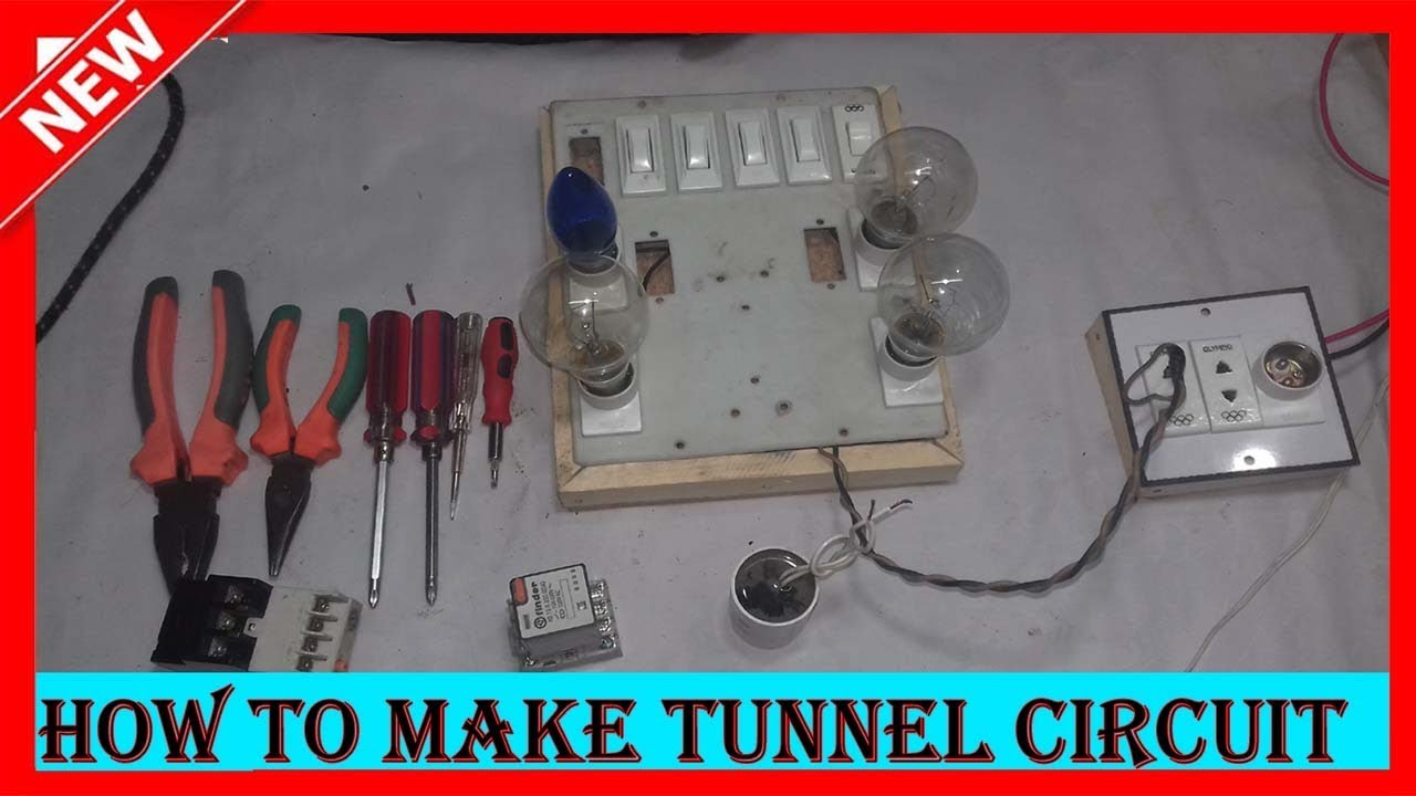 how to make tunnel circuit or godown wiring circuit diagram youtube rh youtube com