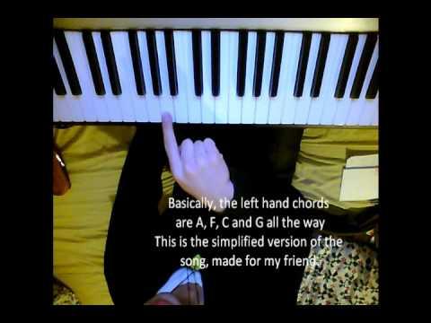 TaeYang - Wedding Dress piano Tutorial Simplified, and normal ...