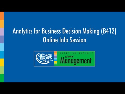 Analytics for Business Decision Making Program (Postgraduate