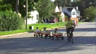 Awesome Kids' Wagon Train!