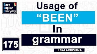 Usage of been in English grammar|How to use been in a sentence |Spoken English|Easy English Everyday