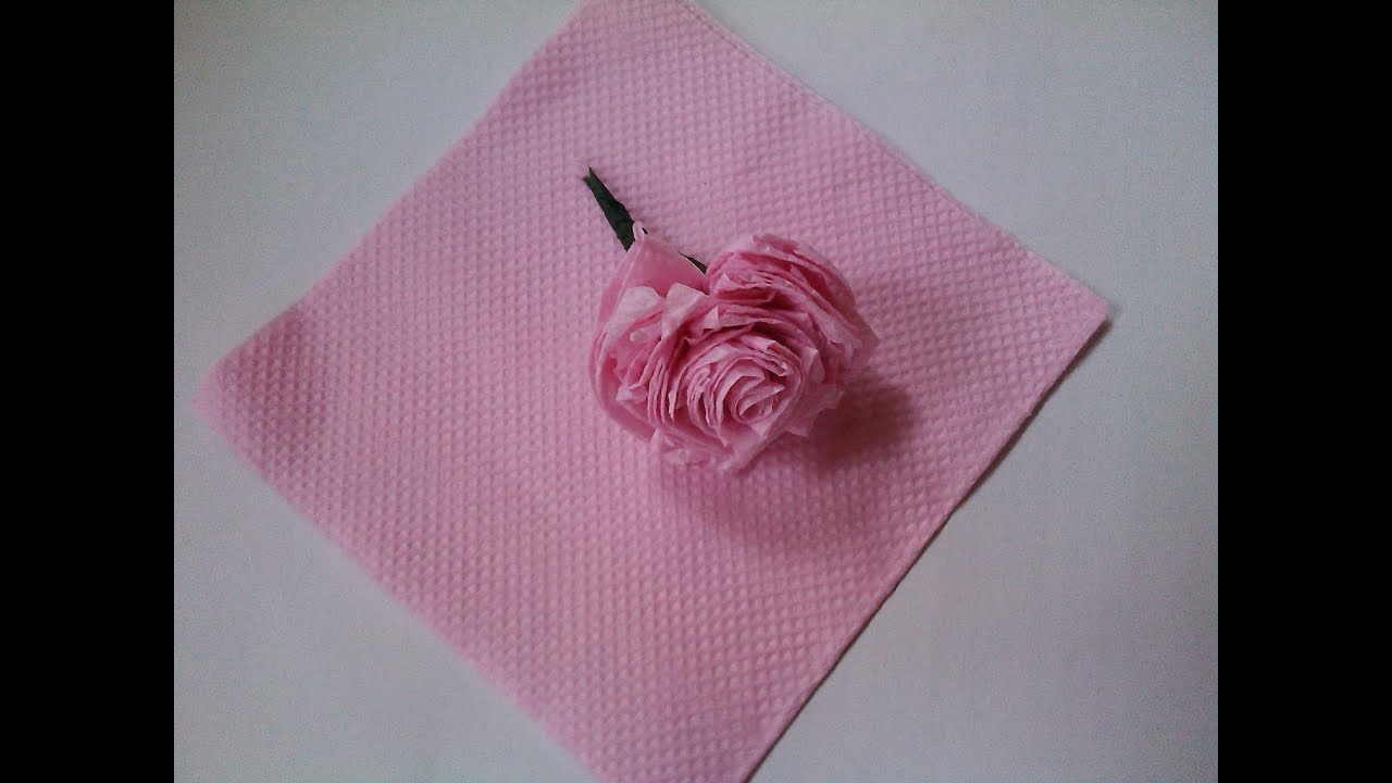 How To Make Rose In Paper Craft