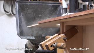 825. Dust Collection Demo  • Table Saw Work Station Series