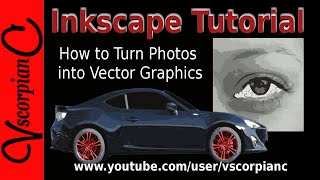 Inkscape Tutorial How to Convert Image to Vector Graphics (Trace Bitmap) by VscorpianC