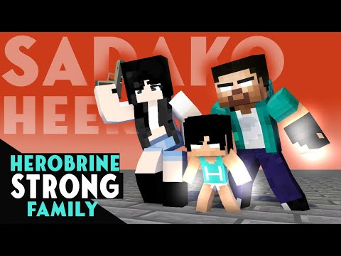 HEROBRINE STRONG FAMILY - ALL EPISODE - MONSTER SCHOOL MINECRAFT - XDJames
