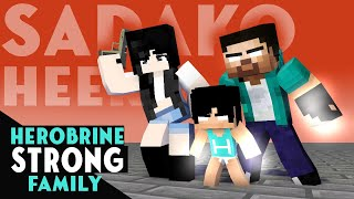 HEROBRINE STRONG FAMILY - ALL EPISODE - MONSTER SCHOOL MINECRAFT