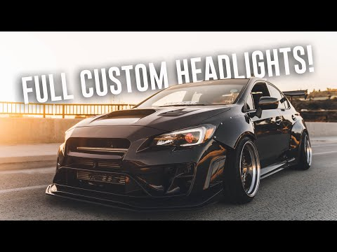 INSTALLING CUSTOM HEADLIGHTS ON THE WIDEBODY WRX!
