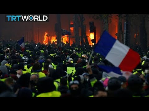 Landmarks defaced as protests continue in France | Money Talks
