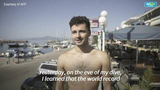 Freediving Frenchman Arnaud Jerald breaks world record
