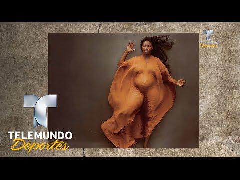 Serena Williams Posa Embarazada ¡y Desnuda!   Más Deportes   Telemundo Deportes
