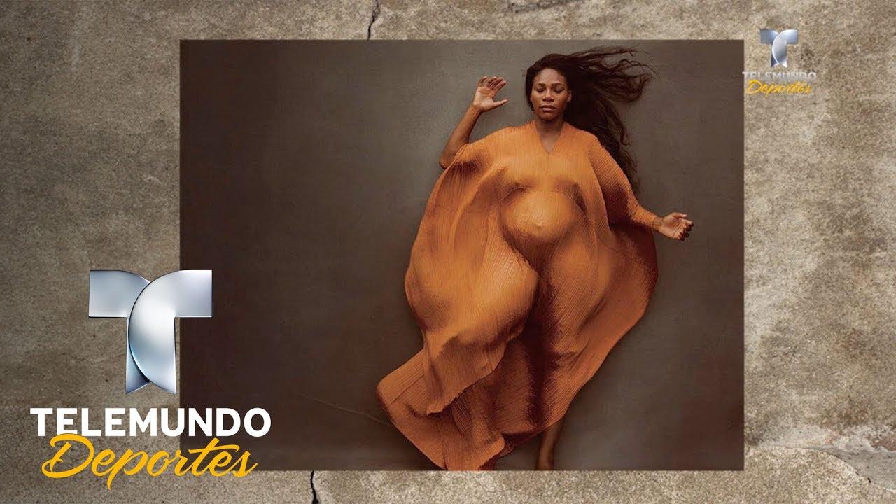 Serena Williams Posa Embarazada Y Desnuda Más Deportes Telemundo Deportes