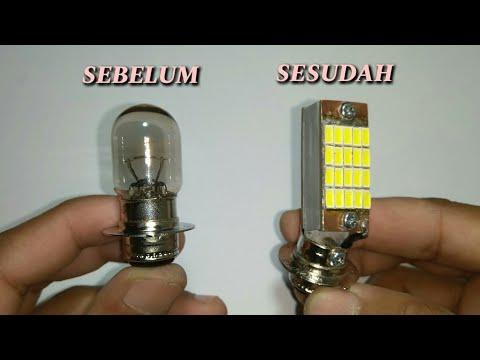 Membuat LED Motor Lampu Depan 12 Volt