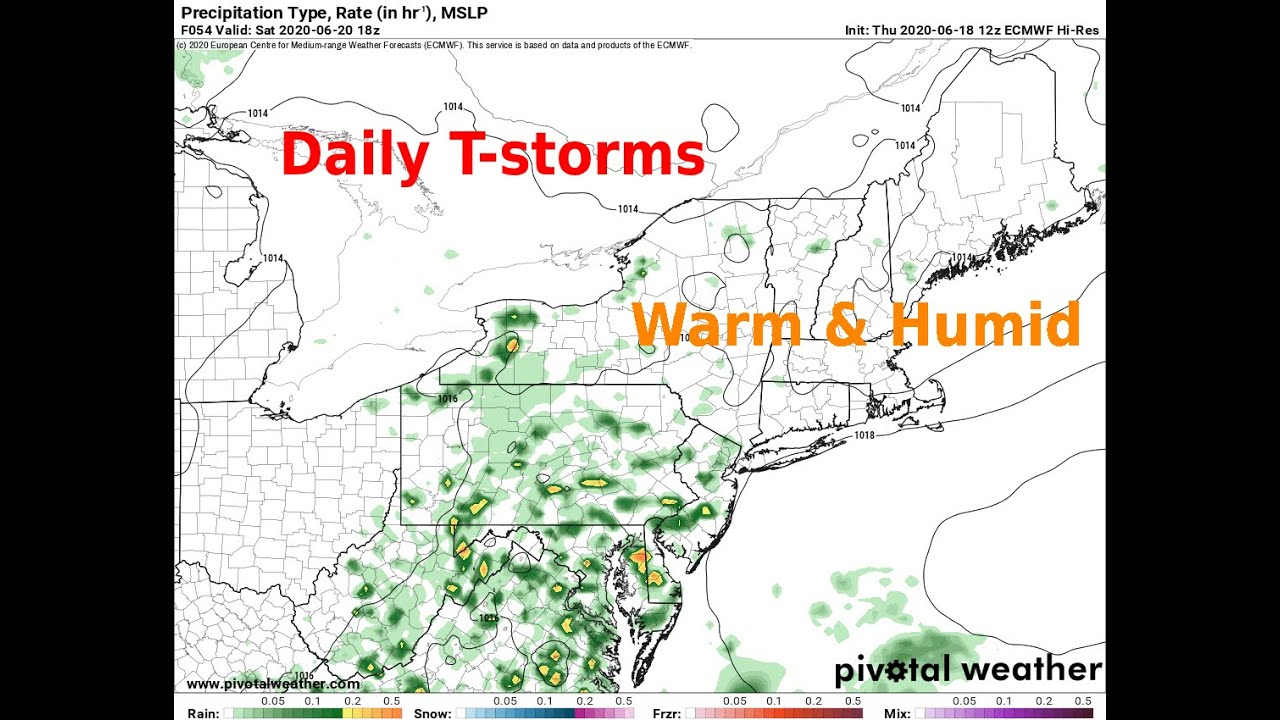 Warmth, Humidity To Spark Off Daily T-storms In The Northeast - WAAF - Weather Update for 6/18-19/20