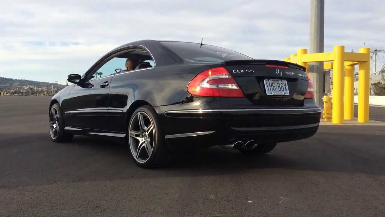 Clk55 amg with straight pipe youtube for Mercedes benz clk55 amg