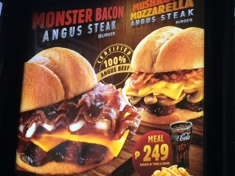 Burger King Monster Bacon Angus Steak Burger vs. Mushroom Mozzarella by HourPhilippines.com
