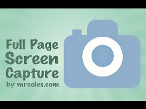 How To Take Full Page Screenshot Of A Web Page