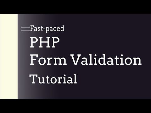 Fast-paced PHP Form Validation Tutorial