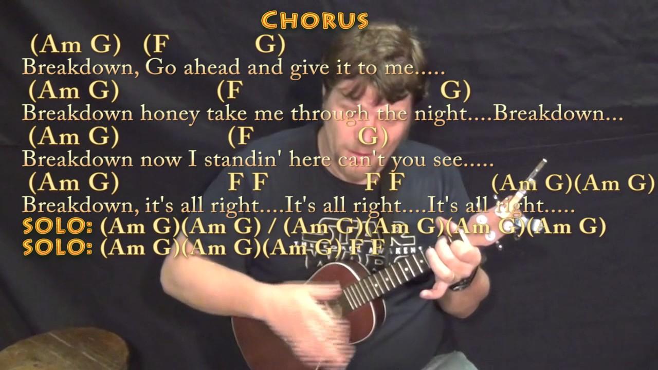 Breakdown tom petty ukulele cover lesson in am with chords breakdown tom petty ukulele cover lesson in am with chordslyrics hexwebz Images