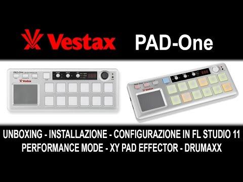 Vestax Pad One - Unboxing,Prova e Configurazione in FL Studio