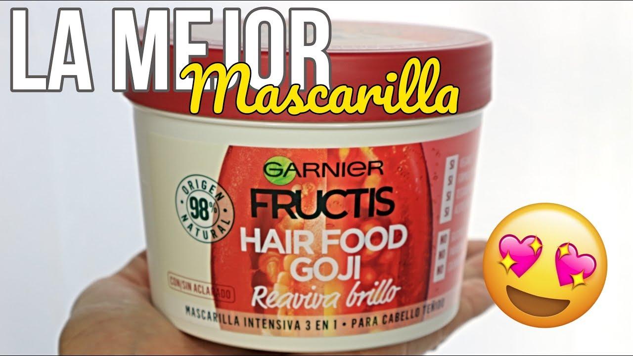 ocio mercado Microbio  LA MEJOR MASCARILLA PARA EL PELO ?? FRUCTIS HAIR FOOD GARNIER - YouTube