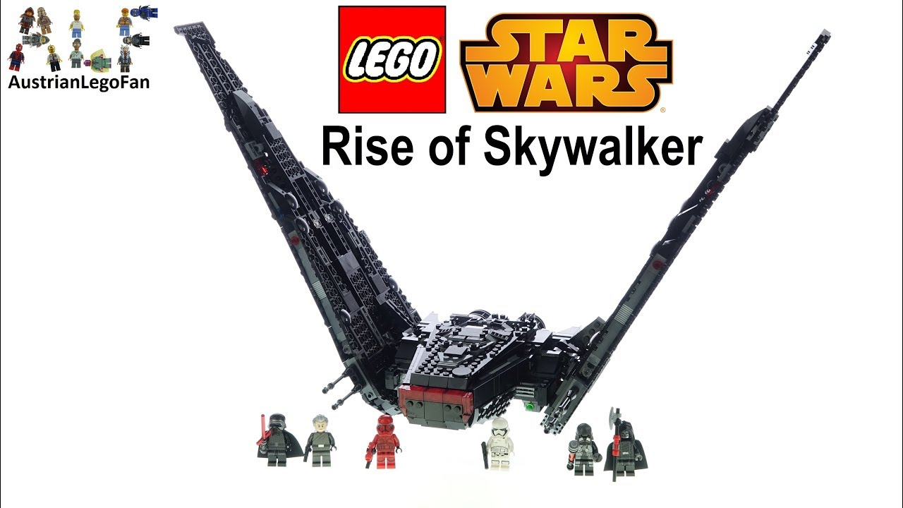 Lego Star Wars 75256 Kylo Ren S Shuttle Lego Speed Build Review Youtube