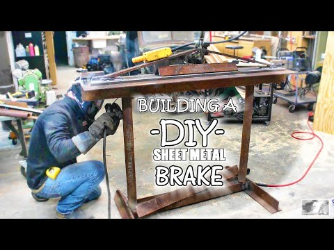 Building a DIY sheet metal brake