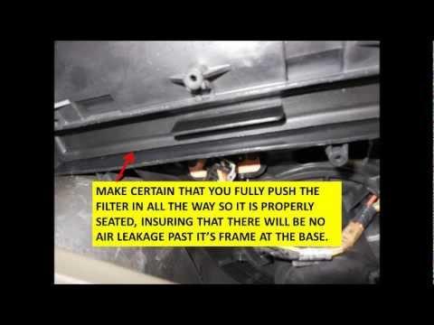 F150 cabin filter installwmv - YouTube