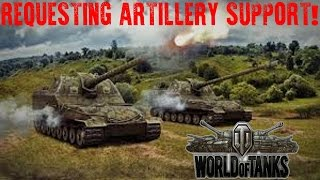 World of Tanks - Requesting Artillery Support! - (World of Tanks Gameplay)