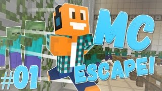 """Minecraft Escape #01 [The Escape!] - """"Horda zombie!"""""""