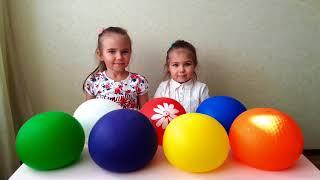 Сборник 10 минут Learn colors with funny girls Учим цвета Nursery Rhyme Songs  for toddlers
