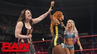 becky lynch teams with nikki cross alexa bliss raw may 20 2019