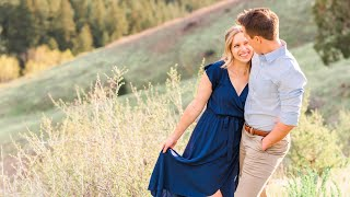 Amy + Chris Engagement   Golden Sunset in the Rockies