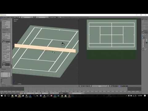 Tennis Court Blender - Peripheral Assets for JNPG