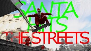 SANTA CLAUS HITS THE STREETS SIN CITY STYLE (SKATEBOARDING)