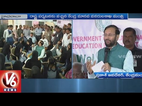 Union Minister Prakash Javadekar Interacts With Students In Hyderabad | V6 News