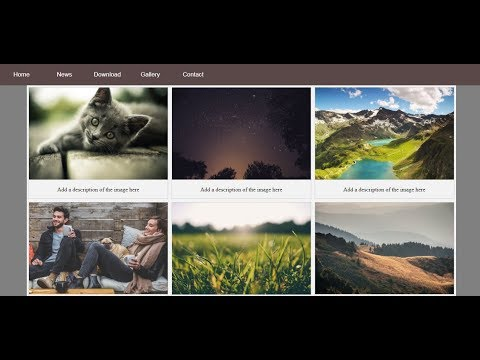 Website Layout With Image Gallery Using HTML And CSS