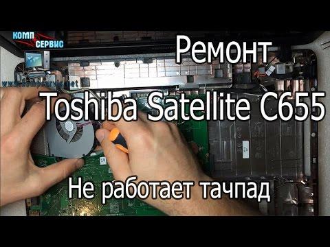Ремонт ноутбука Toshiba Satellite C655-S9521D - Не работает тачпад после залития