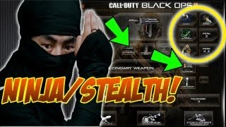Best Stealth/Ninja Class In Black Ops 2 - BO2 Gameplay Commentary Tips and Tricks Class Setup Guide
