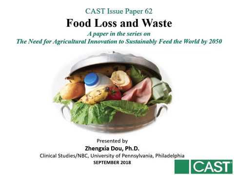 """Food Loss and Waste"" Presenter: Zhengxia Dou, University of Pennsylvania"