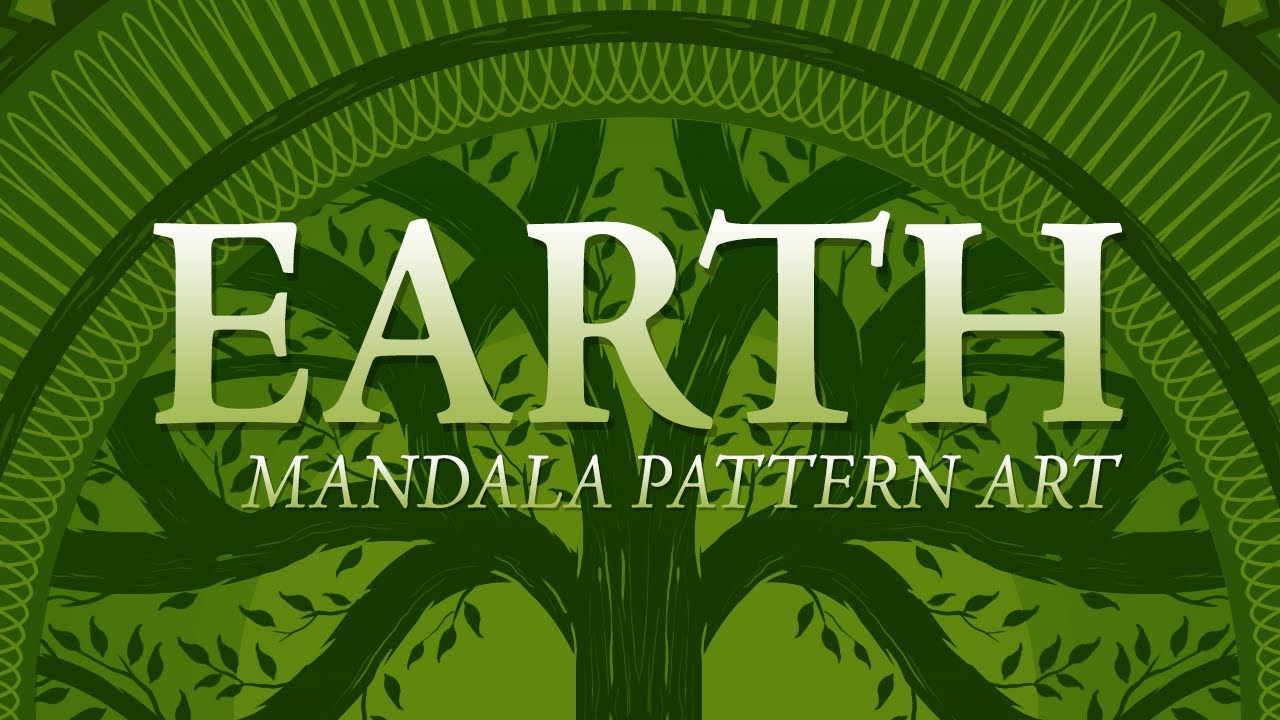 Earth Mandala Pattern Art - YouTube