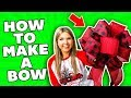 HOW TO MAKE A BOW 🎄 DIY Holiday 🎄 DIY Bow Tutorial